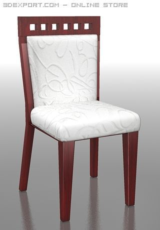 3D Model Dining chair c4d, obj, 3ds, fbx, ma, lwo 24408. Wooden Dining  Chairs