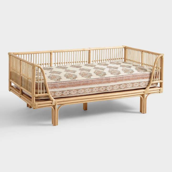 Cost Plus World Market Honey Rattan Daybed Mattress Covers Furniture