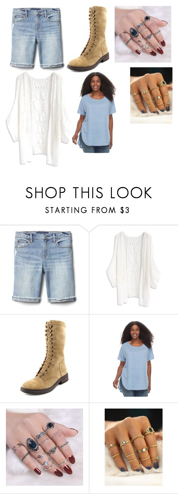 """Meh ain't dead......again"" by creepyemogirl2003 ❤ liked on Polyvore featuring Gap, Chicwish, Nine West, SONOMA Goods for Life and plus size clothing"