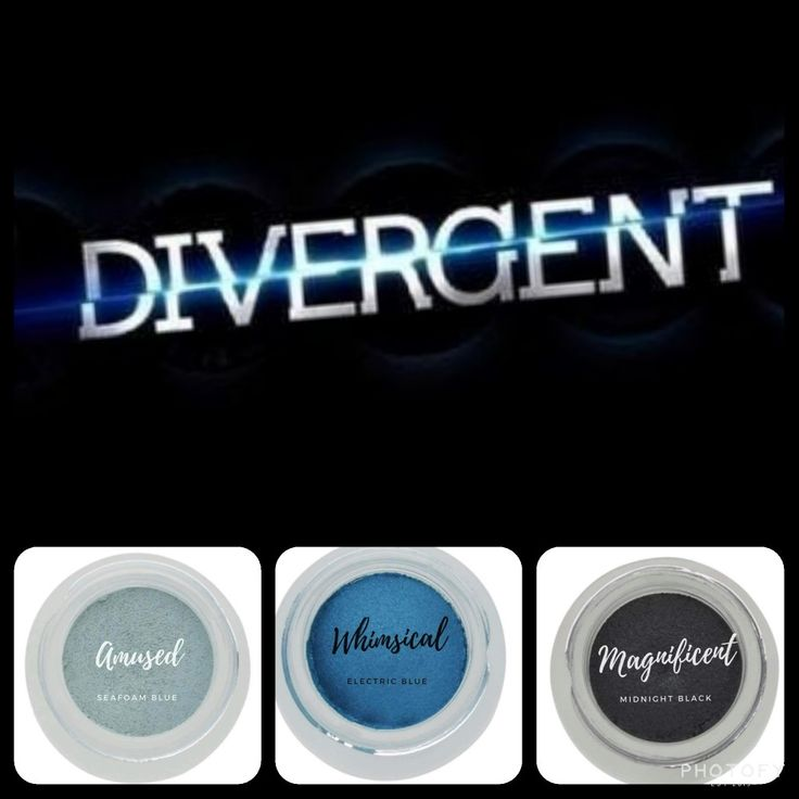 If you are a Divergent movie fan, this makeup is a MUST-HAVE for your collection:  #matte seafoam blue (amused) and #shimmer ocean blue (Whimsical) and midnight black (Skeptical). Get yours as part of the December 2017 kudos at www.taniaslashes.com #younique #splurge #taniaslashes #divergent #movie