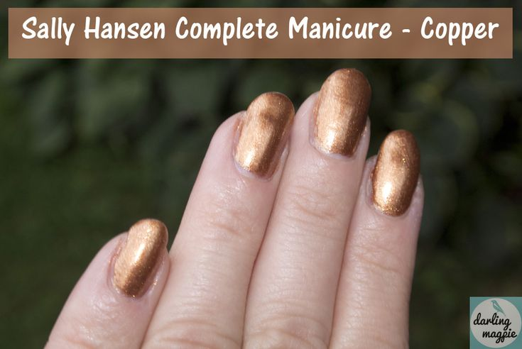 Sally Hansen Complete Manicure - Copper - Gorgeous, copper-y goodness.