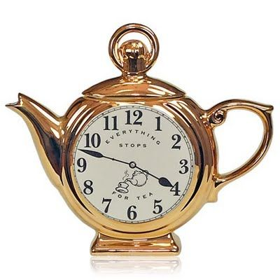 Clock teapot-that's different :)