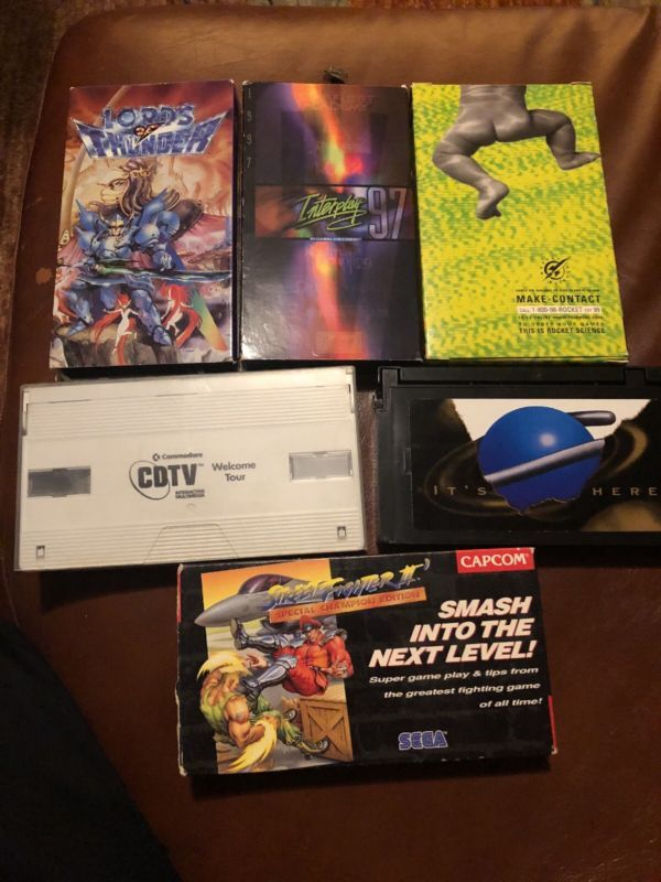 Set Of 6 Video Game Promo VHS Tapes #retrogaming #HotSS for
