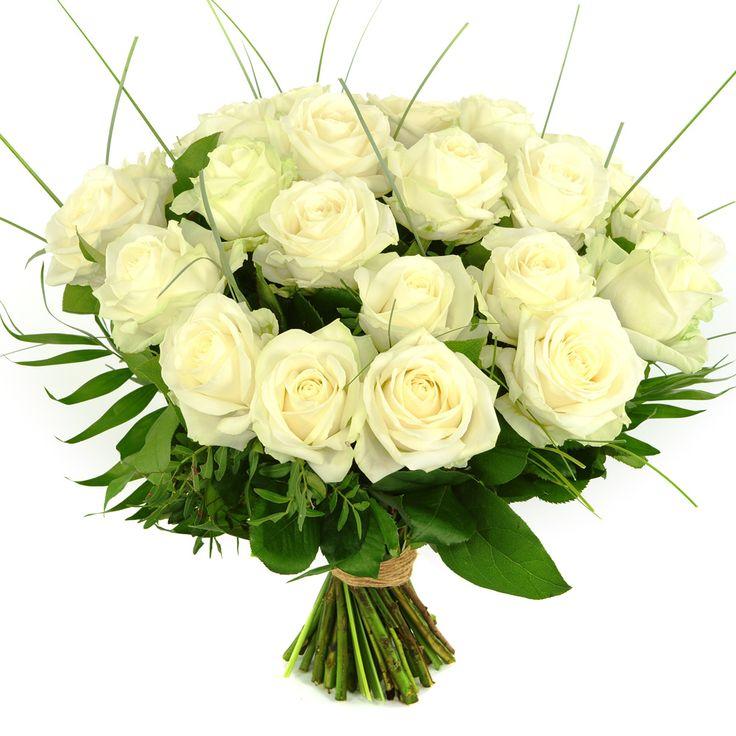 Maak iemand blij met een bos mooie witte rozen. Bezorgd door heel Nederland!  Thuiswinkel Lid. Vers garantie. Snel bezorgd. BoeketCadeau.nl