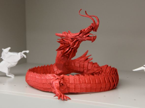 origami chinese dragon origami pinterest chinese