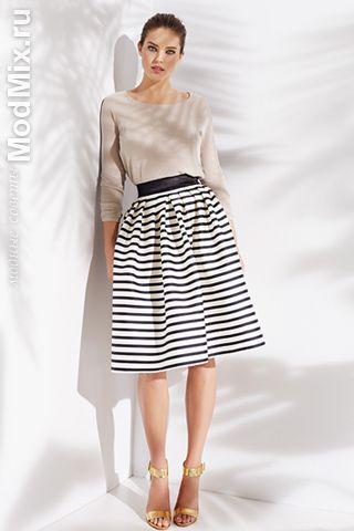 Юбка в полоску, с чем носить   Мода 2015, фото, модные советы стилиста, форум