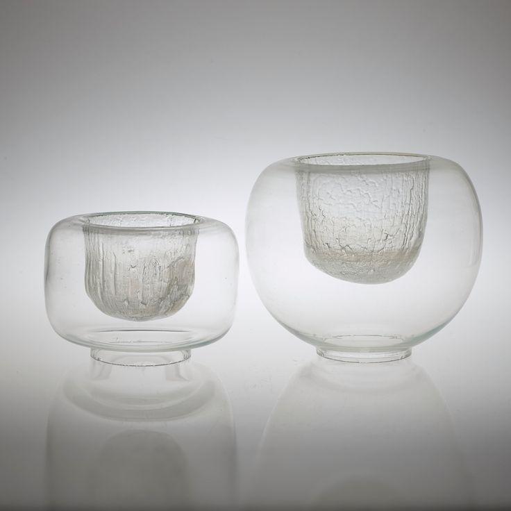 Timo Sarpaneva;  Glass 'Finlandia' Vessels, c1970.