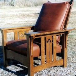 Gustav Stickley, Mission furniture, Arts and Crafts Movement.     Detail on chair slat
