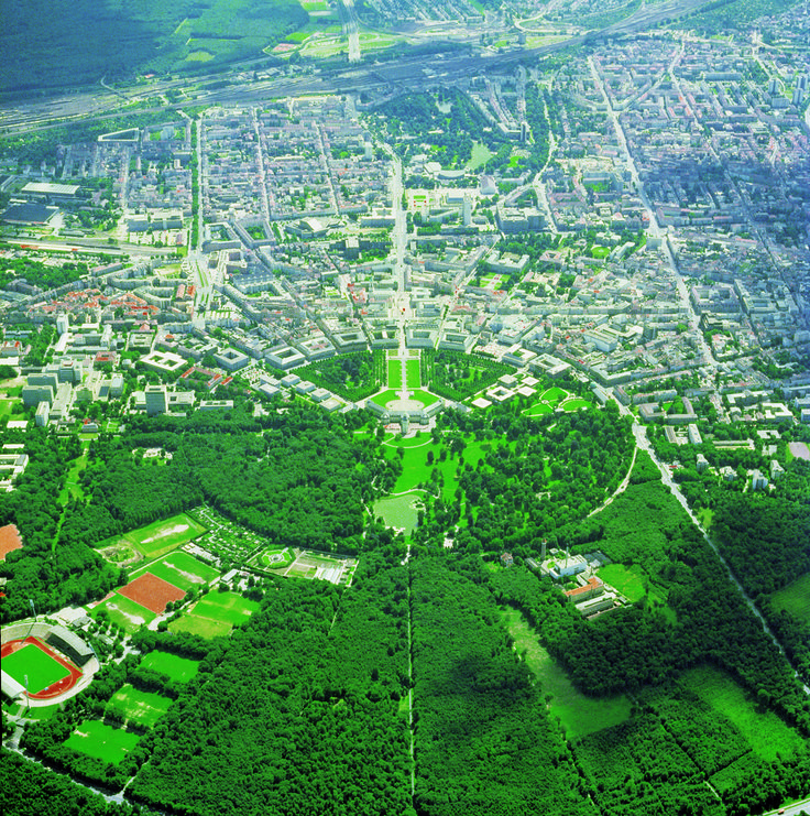 Fan-shaped city Karlsruhe, Germany