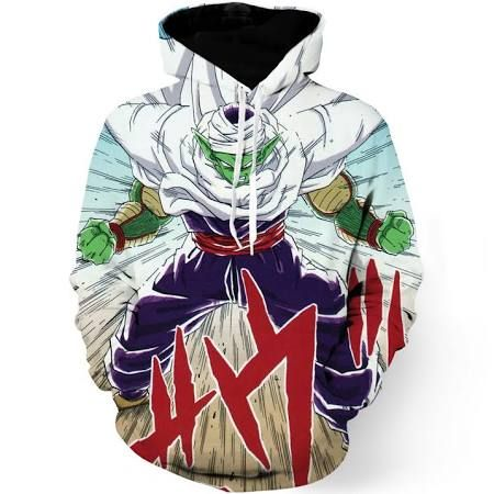 DBZ Anime Piccolo Evil King Anger Release Full Print Cool Design Hoodie - 4XL