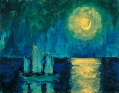 Emil Nolde - Moonlit Night, 1914, oil on canvas