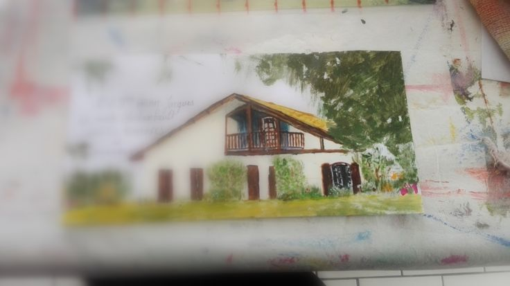 Mail Art peint en mai 2016-Rosiane Priam