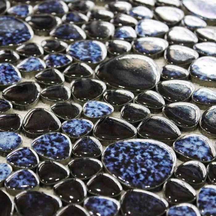 Cheap nero misto di colore blu ceramica mosaico di ciottoli piastrelle per bagno doccia backsplash cucina corridoio piscina mosaico pavimentale, Compro Qualità Mosaici direttamente da fornitori della Cina: specifiche : materiale : ceramica originale : cina formato delle mattonelle : 6 mm di spessore dimensioni foglio : 12 x