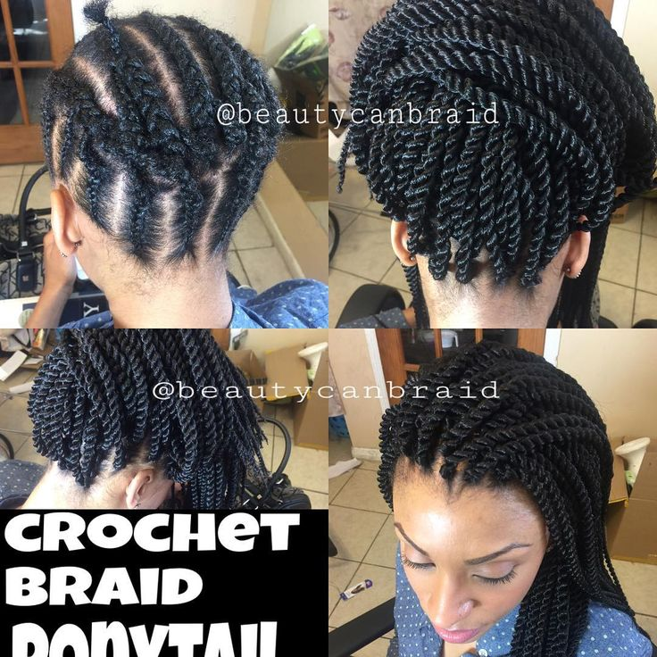 Braid  pattern  for crochet  braids  that can  be  worn  up  @beautycanbraid