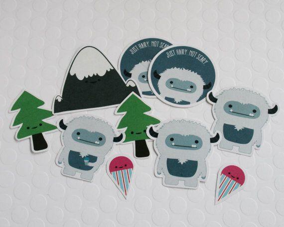 Yeti autocollants Stickers mignons par FunUsualSuspects sur Etsy