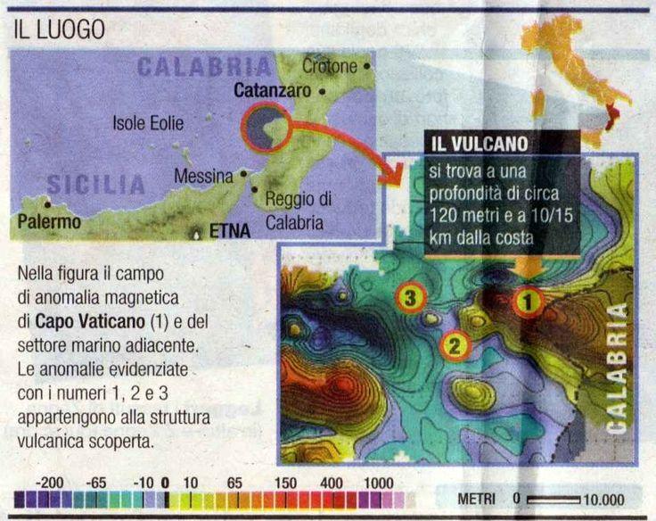 A Capo Vaticano... l'isola che non c'è L'ottava isola, un vulcano che non sappiamo ancora quanto fosse alto, è sprofondata. Il suo punto più alto è ad appena 120 metri di profondità sotto il pelo dell'acqua a largo di Capo Vaticano, in pr #capovaticano #chiappini #collialbani