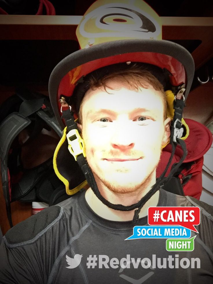 Patrick Brown gets the #Canes Fireman's Helmet after notching his first NHL Career Goal in the win over the #Rangers! #redvolution #NYRvsCAR