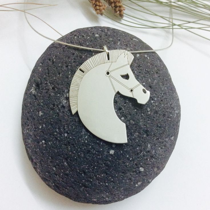 Horse neckpiece, the friendship, silver