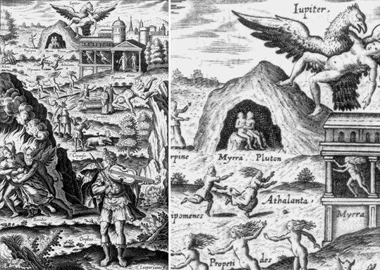 Orphée et Eurydice (Métamorphoses L'Angelier 1617 l.10) - Isaac