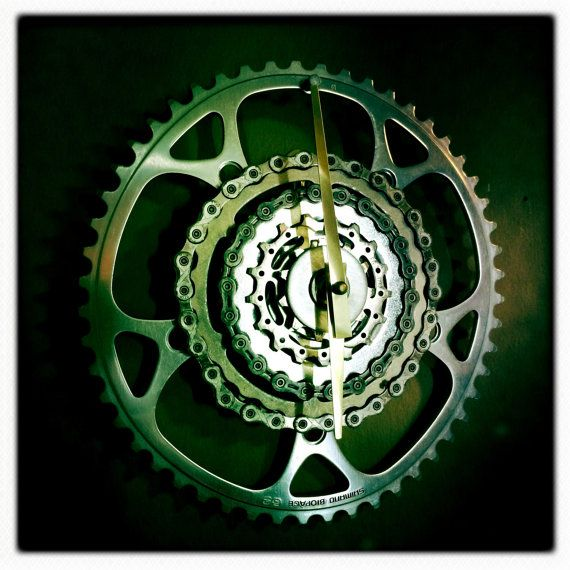 Recycled Bike Parts Clock /  Bicycle Gears & by DreamGreatDreams, $65.00