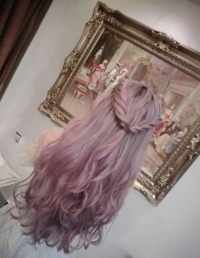 Seeking Freedom | Tumblr | Dyed Hair | Purple | Lilac Hair | Braid | Beautiful | Curly