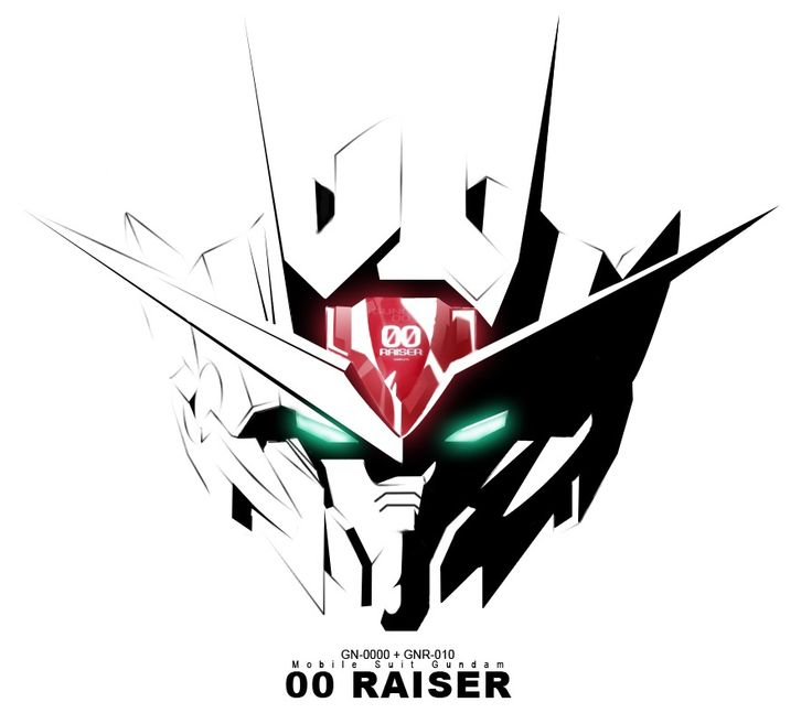 The GN-0000+GNR-010 00 Raiser (aka 00 Raiser, 00R), is the combined and mainstay form of GN-0000 00 Gundam and GNR-010 0 Raiser in mid-season 2 of Mobile Suit Gundam 00. The unit is co-piloted by Setsuna F. Seiei and Saji Crossroad.