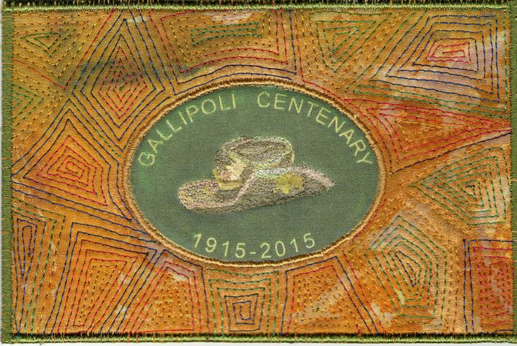 Gallipoli Slouch Hat Badge .. by Thea McCarthy