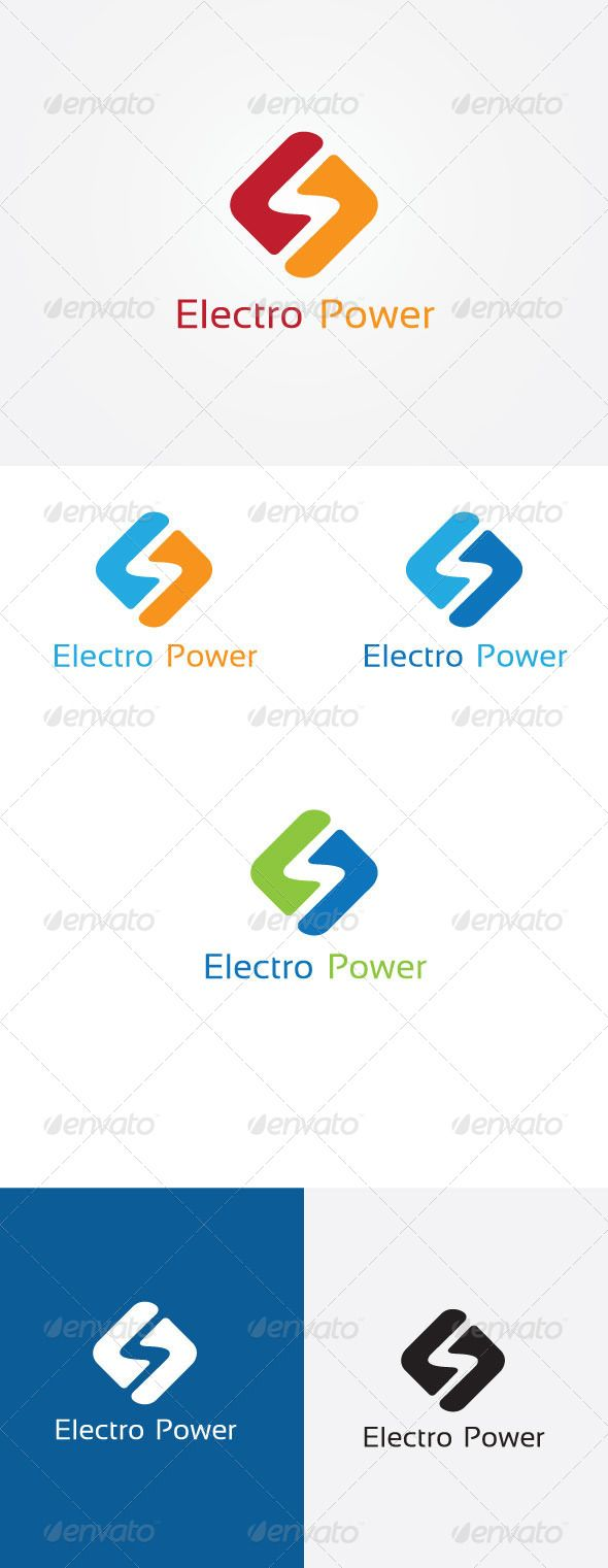 Electric Bolt Logo  #GraphicRiver         Style Live Logo Template  	 File Details :  	 	 100% VECTOR 		 CMYK,BLACK & WHITE