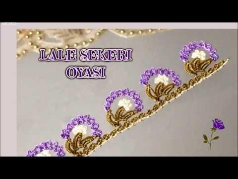 Lale Şekeri Oyası / Tığ oyası modeli - YouTube