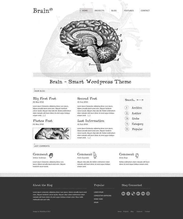Brain - Wordpress theme by webvilla.deviantart.com