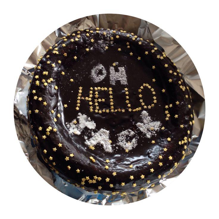 "Vegan chocolate cake | welcome baby Jack ""oh hello Jack"""