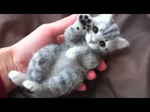 Adorable Realistic Playful Kitten.