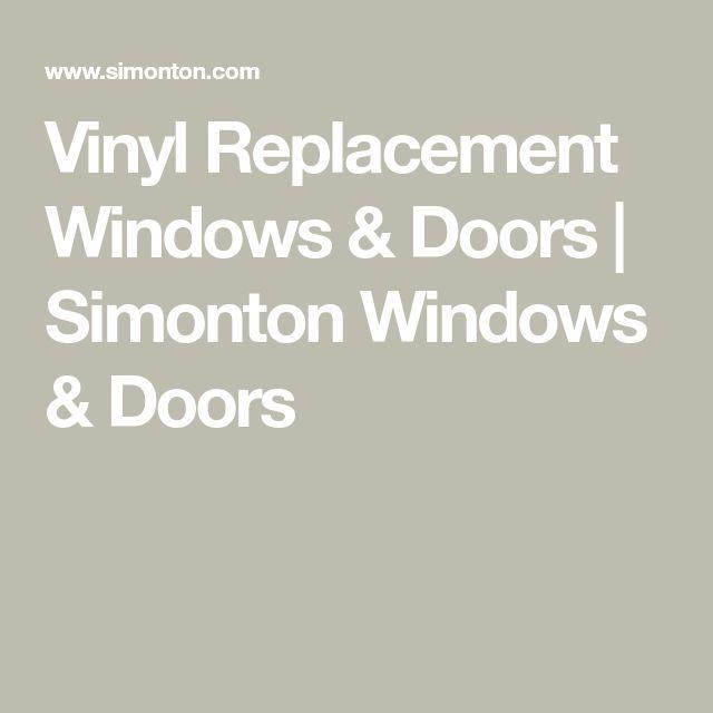 Vinyl Replacement Windows Doors Simonton Windows Doors