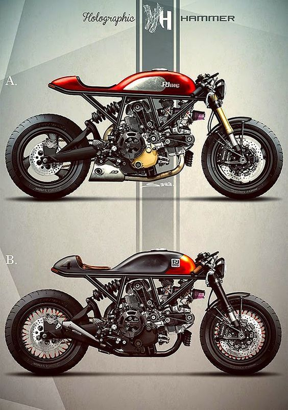The Bullitt: Ducati cafe racers by Holographic Hammer: