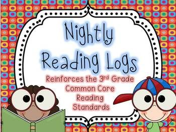 Make reading homework meaningful with these nightly reading logs. EVERY 3rd grade Common Core Reading Standard is included!