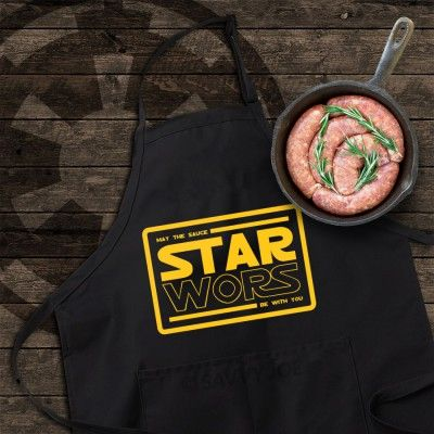 STAR WORS BRAAI & COOKING APRON (BLACK) - R225 from Mantality (South Africa)