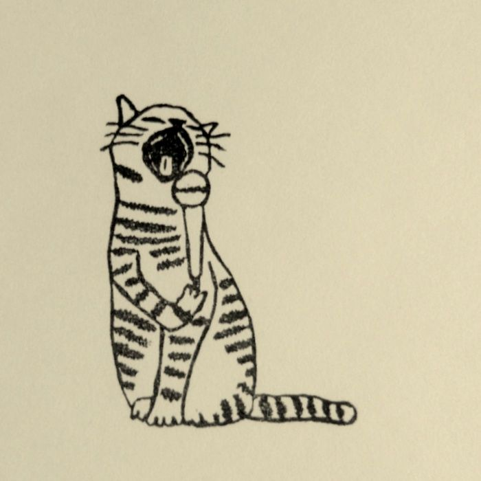 Rubber Stamp №133 — Tygr the Cat Sings