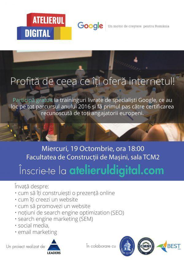 Atelierul digital Google, la Iasi