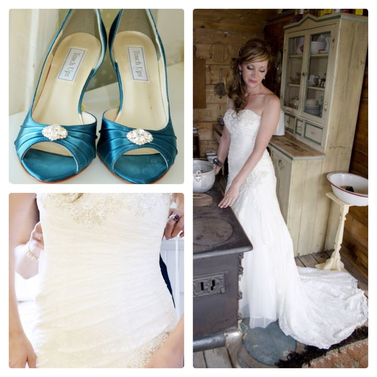 Wedding Dress and shoes.