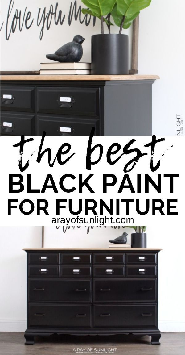 How To Easily Paint Black Furniture One Of The Hardest Colors To Get Perfect In 2020 Black Painted Furniture Black Furniture Diy Furniture Renovation