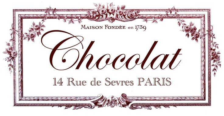 Transfer Printable - Chocolat Paris - The Graphics Fairy   Furniture Transfer (wine)