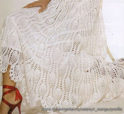 White Pineapple Skirt free crochet graph pattern