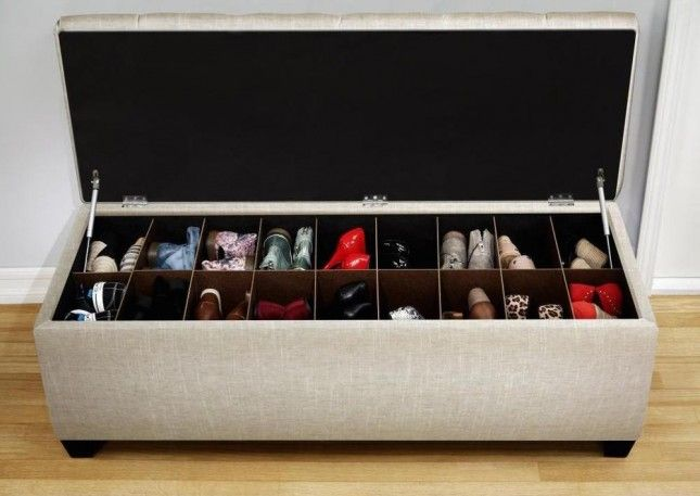 12 Inventive Ways to Organize Your Shoes: Shoe Storage Bench (need this in my life!)