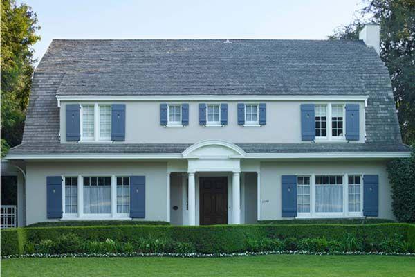Paint color ideas for colonial revival houses exterior house paint colors light gray paint for Light gray exterior house paint