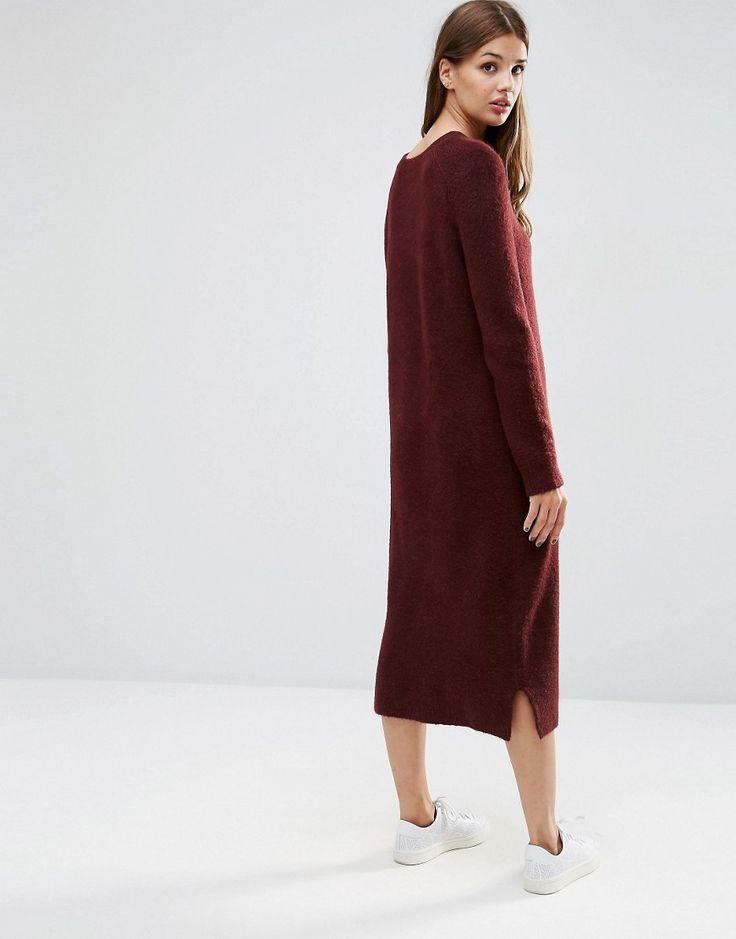 Изображение 2 из Шерстяное платье-джемпер миди ASOS