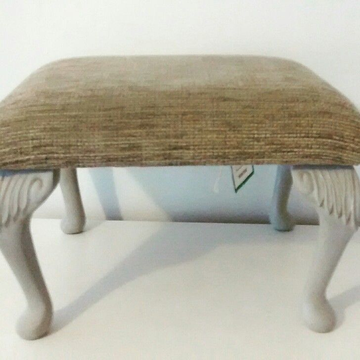 Footstool painted in Frenchic® Lazy Range 'Funky Dora' www.beattymayhome.co.uk