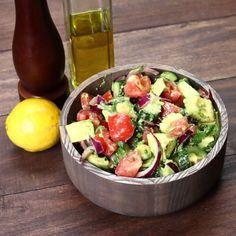 Healthy Cucumber, Tomato, and Avocado Salad