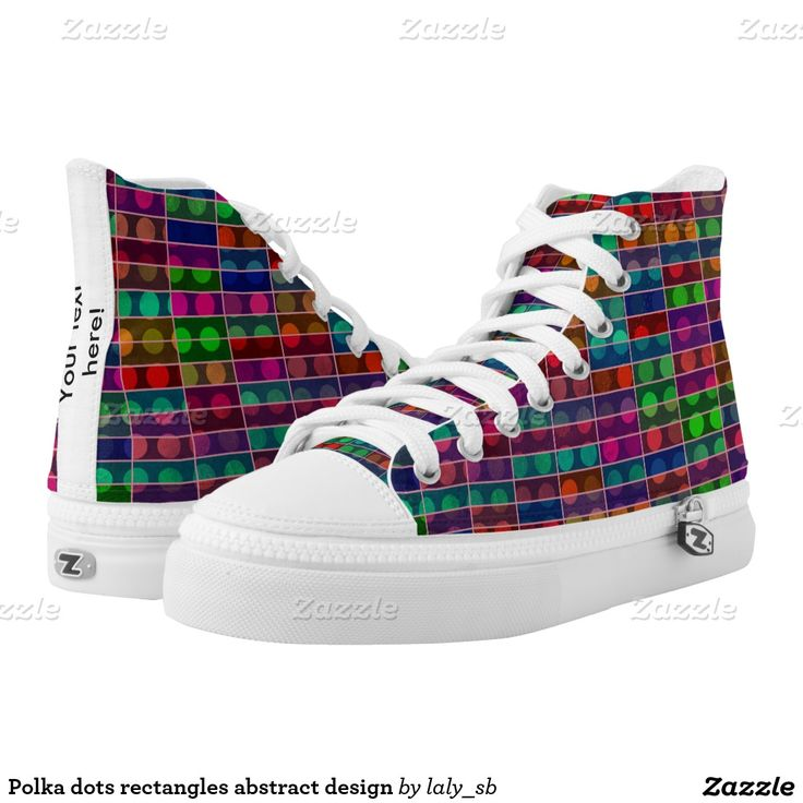 Polka dots rectangles abstract design printed shoes