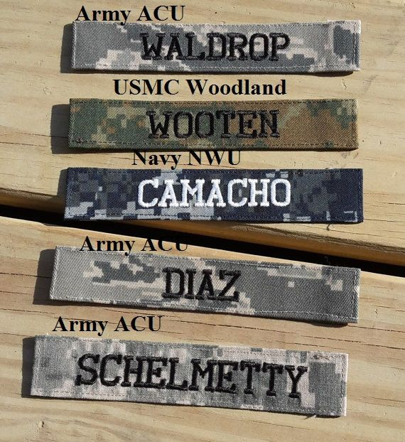 Military Name Tape or Name Patch Army ACU by GabbysQuiltsNSupply