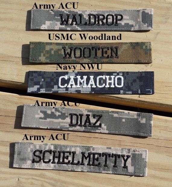 Nombre militar cinta o nombre parche por GabbysQuiltsNSupply